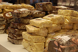Variety of Cheese and Fudge